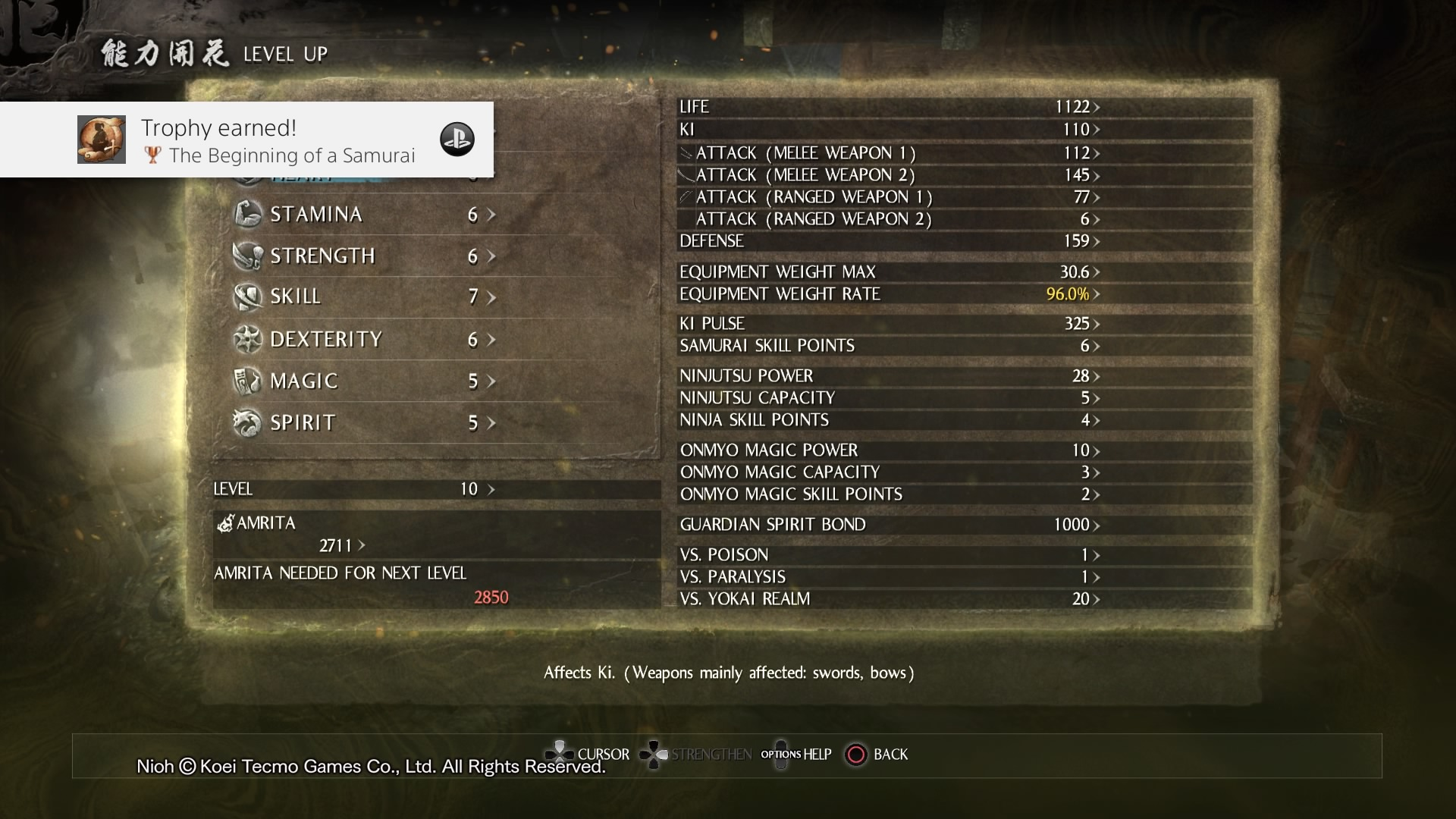 Nioh_Levelup_Screen