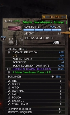 Elemental Damage Reduction 34.9% ở mũ