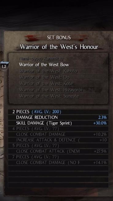 Warrior of The West sẽ tăng sát thương gốc lên 10 - 15% khi trang bị đủ 4 món