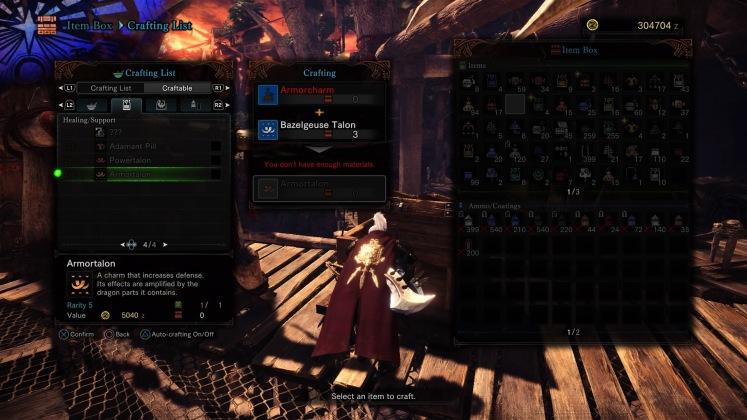 Monster Hunter: World Crafting Talon