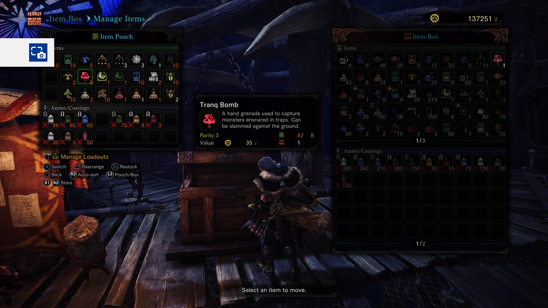 Monster Hunter hunt vs capture - TranqBomb