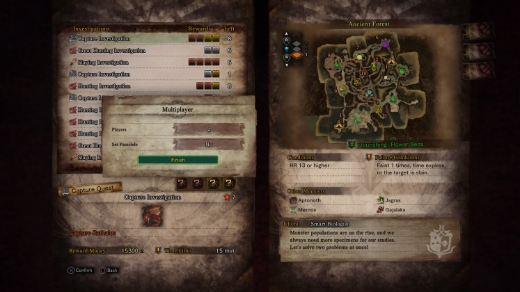 Monster Hunter World - Choosing Mission
