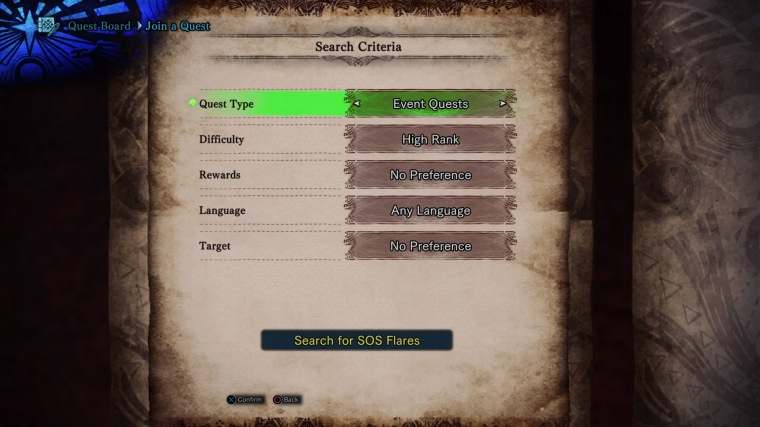 MHW - Events - DMC - Multiplayer search