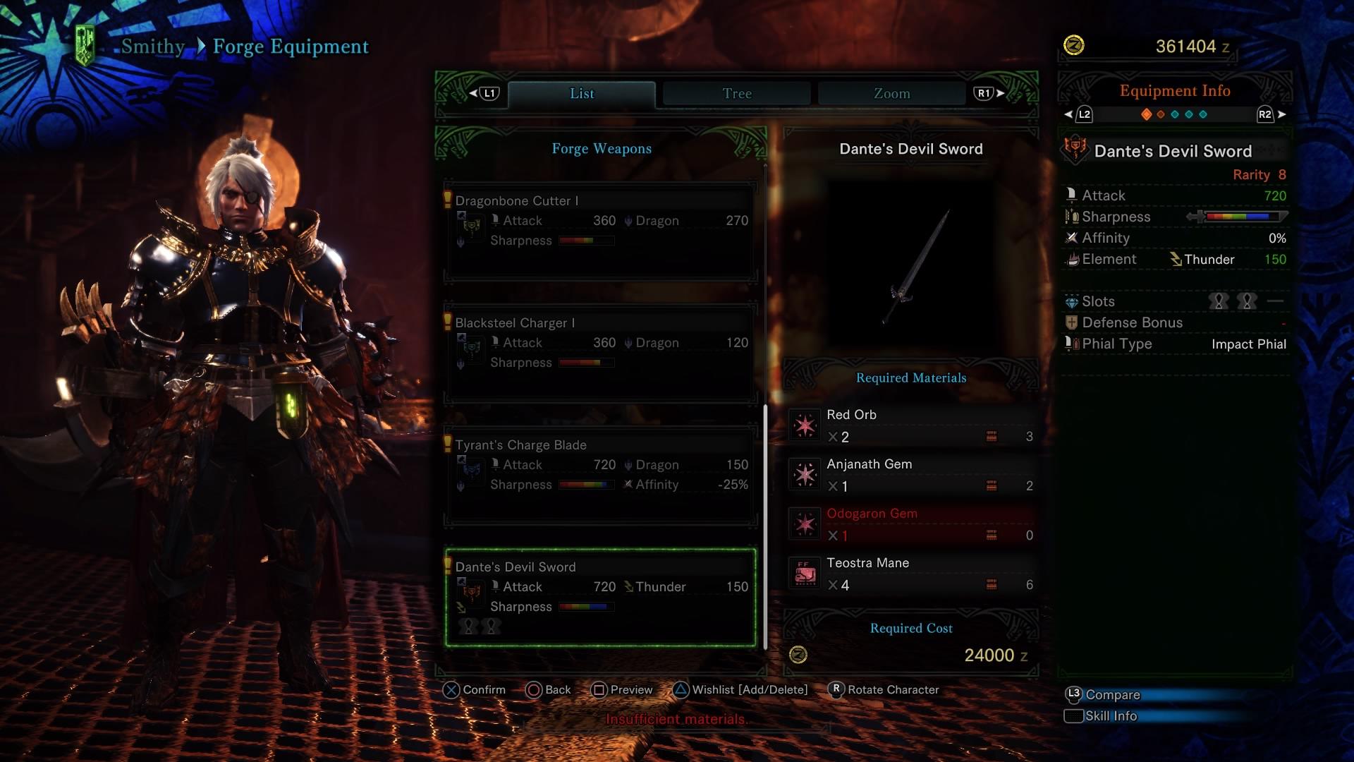 MHW Dante's Devil Sword