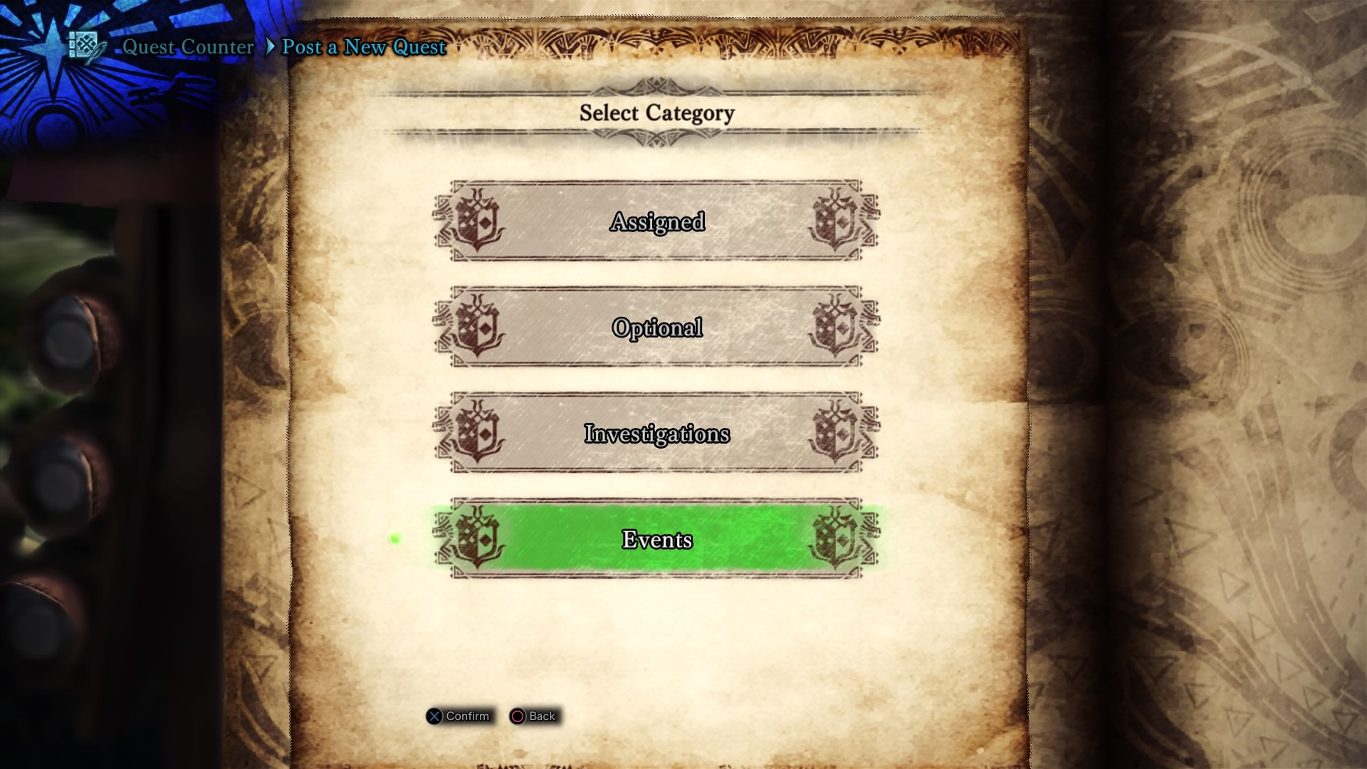MHW Quest Category